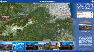 Capture du site 100 Miles Sud de France 2018